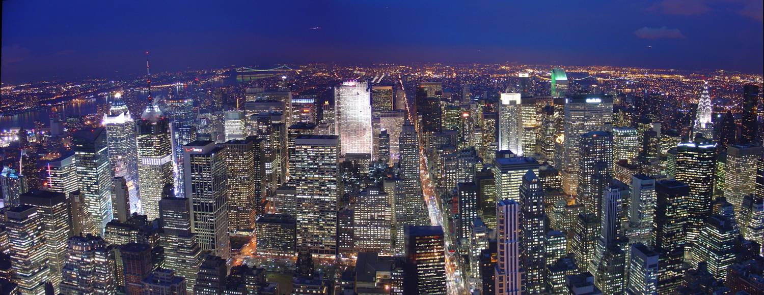 descriptive writing of new york city at night